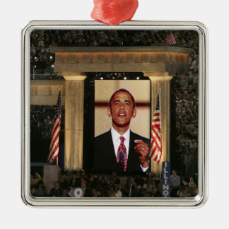 Barak Obama speaks at the last night of the Metal Ornament