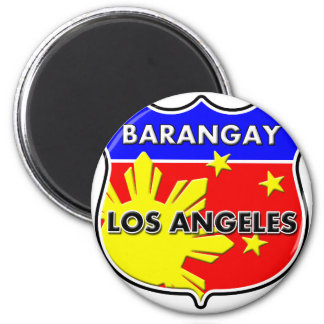 Barangay LA 2 Inch Round Magnet