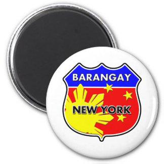 Barangay New York 2 Inch Round Magnet