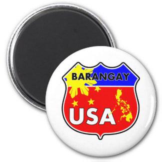 Barangay USA 2 Inch Round Magnet