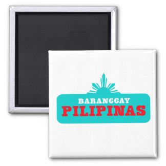 Baranggay Pilipinas Customizables Square Magnet