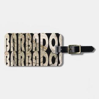 barbados1758 luggage tag