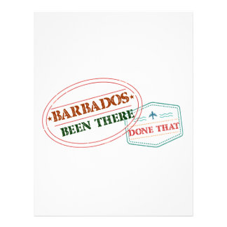 Barbados Been There Done That Personalized Letterhead