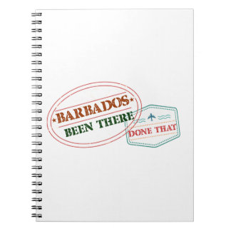 Barbados Been There Done That Spiral Note Books
