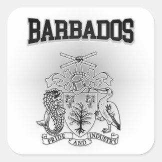 Barbados Coat of Arms Square Sticker