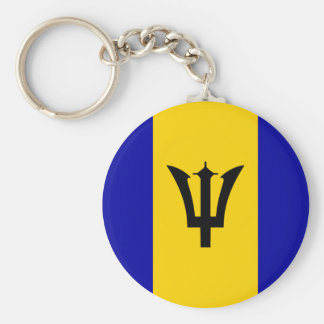 Barbados Flag Basic Round Button Keychain