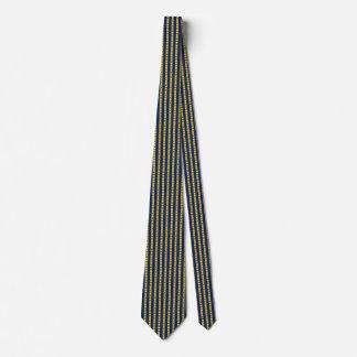 Barbados Flag Honeycomb Tie