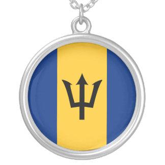 Barbados Flag Necklace