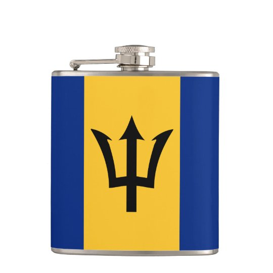 Barbados flag pattern Wrapped Flask