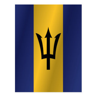 Barbados flag postcard