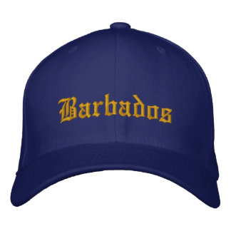 Barbados Hat Embroidered Hat