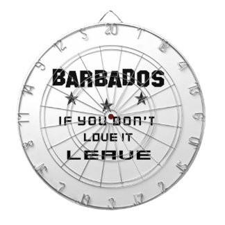 Barbados If you don't love it, Leave Dart Board