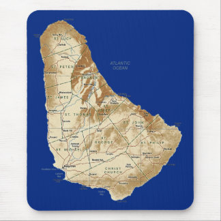 Barbados Map Mousepad