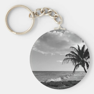 Barbados Palm Tree Beach Keychain