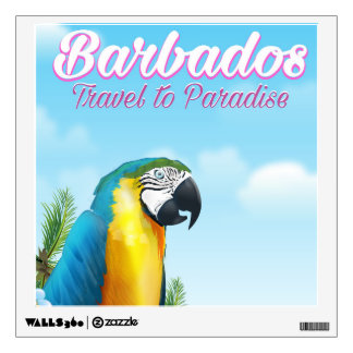 Barbados Parrot travel poster Wall Sticker