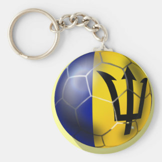Barbados soccer football ball Bajan flag Keychain