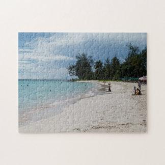 Barbados Sunny Beach Scene. Jigsaw Puzzle