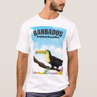 Barbados Tropical Paradise travel poster T-Shirt