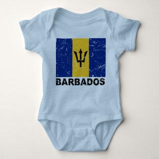 Barbados Vintage Flag Baby Bodysuit