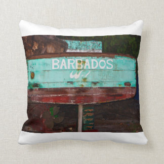 """Barbados W.I."" Throw Pillow"