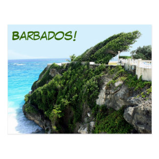 Barbados windy paradise postcard