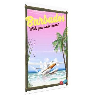Barbados - wish you were here! canvas print