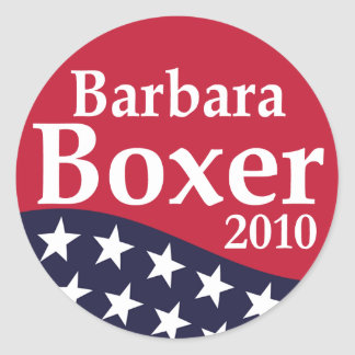 Barbara Boxer 2010 Lapel Stickers