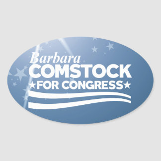 Barbara Comstock Oval Sticker
