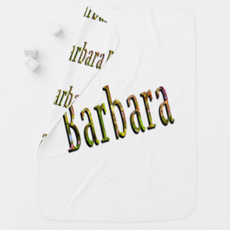 Barbara Girls Name Logo, Baby Blanket