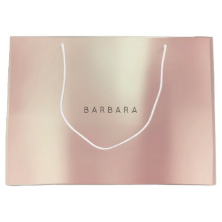 BARBARA  Gold Blush Pearly Minimal Gift Large Gift Bag