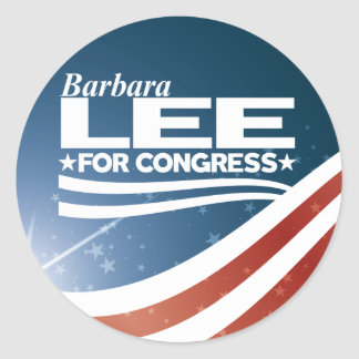 Barbara Lee Classic Round Sticker