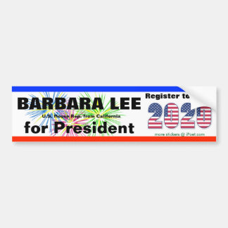 BARBARA LEE FOR PRESIDENT in 2020 - Bumper Sticker