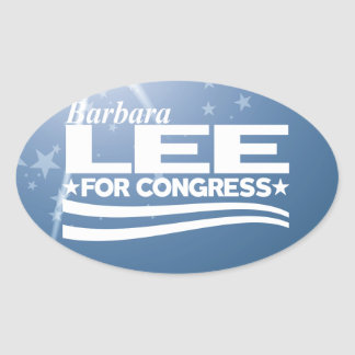 Barbara Lee Oval Sticker