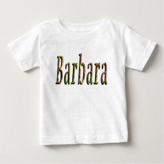Barbara, Name, Logo, Baby Girl White Tee