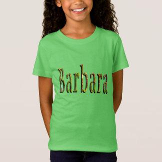 Barbara, Name, Logo, Girls Green Tshirt