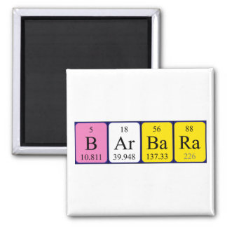 Barbara periodic table name magnet