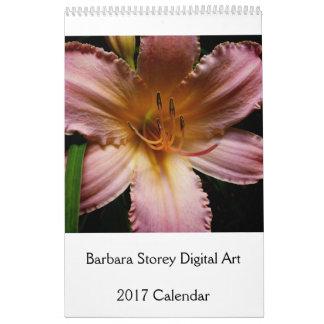 Barbara Storey Digital Art 2017 Calendar