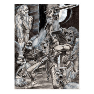 Barbarian Apocalypse Art 002 Postcard