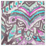 Barbarian Feather Boho Watercolor Tribal Fabric