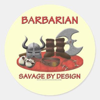 Barbarian: Savage by Design Round Sticker