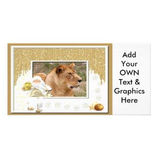 Barbary Lion-Nap-c-165 copy Photo Greeting Card