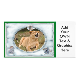 Barbary Lion-Nap-c-16 copy Photo Greeting Card