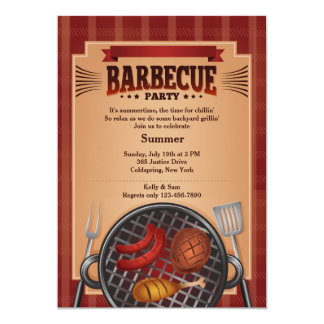 Barbecue Grill Invitation