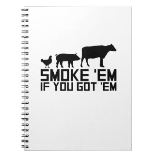 Barbecue Grilling Funny Gif Smoke'Em If You Got'Em Notebook