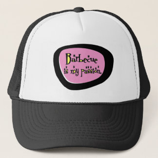Barbecue Is My Passion (Pink) Retro Trucker Hat