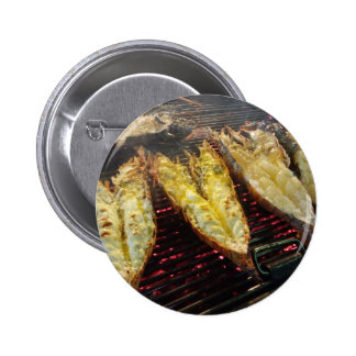 Barbecue Lobster 2 Inch Round Button