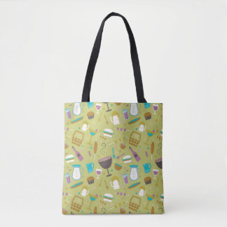 Barbecue Pattern Tote Bag