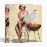 Barbecue Pin-Up Girl Vinyl Binders