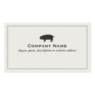 Barbecue Pork Black Sectioned Pig Business Card