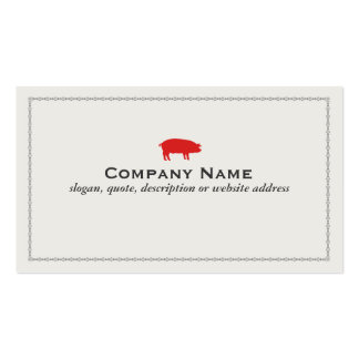 Barbecue Pork Business Card